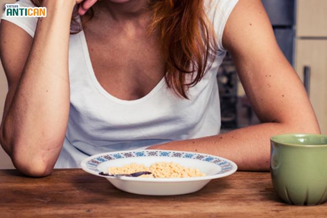 xạ trị ung thư vú, chán ăn